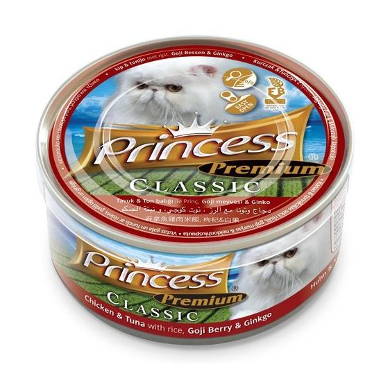 Princess Premium Cat Classic puszka kurczak, tuńczyk i jagody Goji 170g