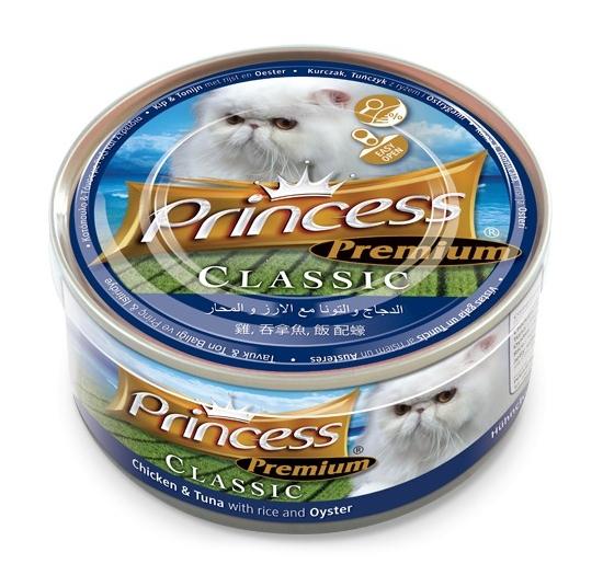 Princess Premium Cat Classic puszka kurczak, tuńczyk i ostrygi 170g