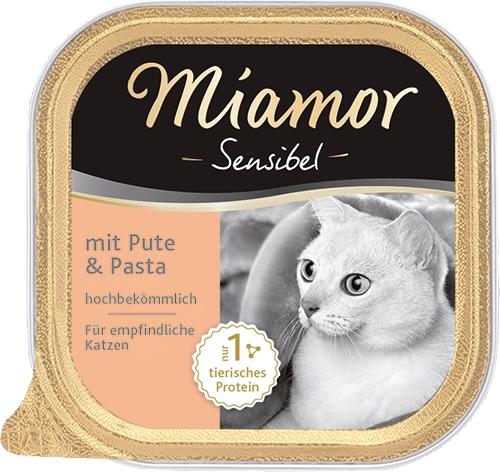 Miamor Sensibel tacka dla wrażliwych kotów indyk i makaron 100g