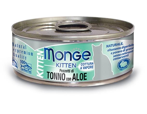 Monge Kitten puszka dla kociąt tuńczyk z aloesem w galaretce 80g
