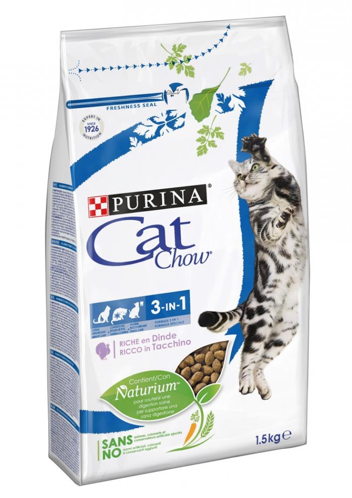 Zdjęcie Purina Cat Chow Special Care 3 w 1  Hairbal, Urinary & Oral Health 1.5kg