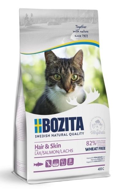 Bozita Feline Hair & Skin Wheat Free dla kotów długowłosych i wrażliwych 400g