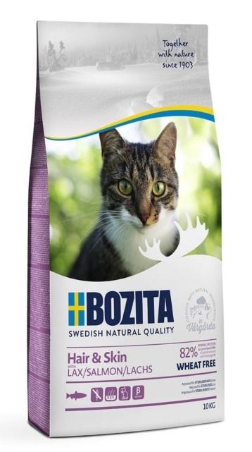 Bozita Feline Hair & Skin Wheat Free dla kotów długowłosych i wrażliwych 10kg
