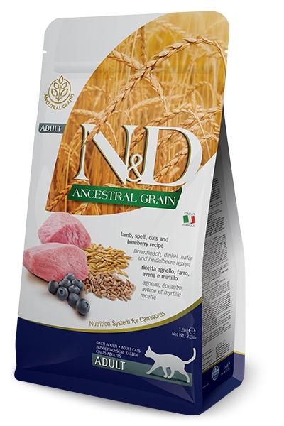 Farmina N&D Low Grain Cat jagnięcina i borówki 1.5kg