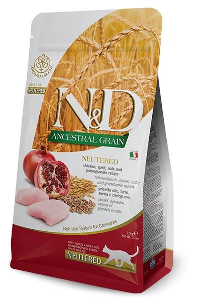 Farmina N&D Low Grain Neutered Cat kurczak i granaty 1.5kg