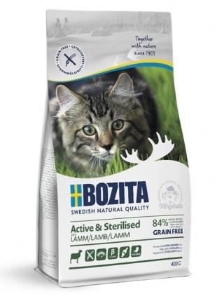 Bozita Feline Active & Sterilised Grain Free dla kotów wrażliwych i aktywnych 400g
