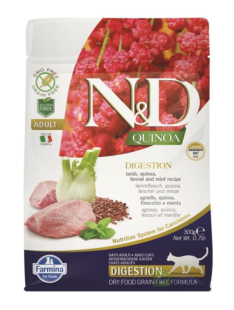 Farmina N&D Grain Free Cat Quinoa Digestion jagnięcina i koper włoski 1.5kg