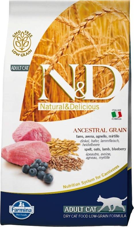 Farmina N&D Low Grain Cat jagnięcina i borówki 5kg
