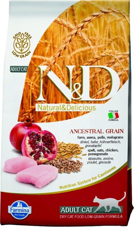 Farmina N&D Low Grain Cat kurczak i granaty 1.5kg