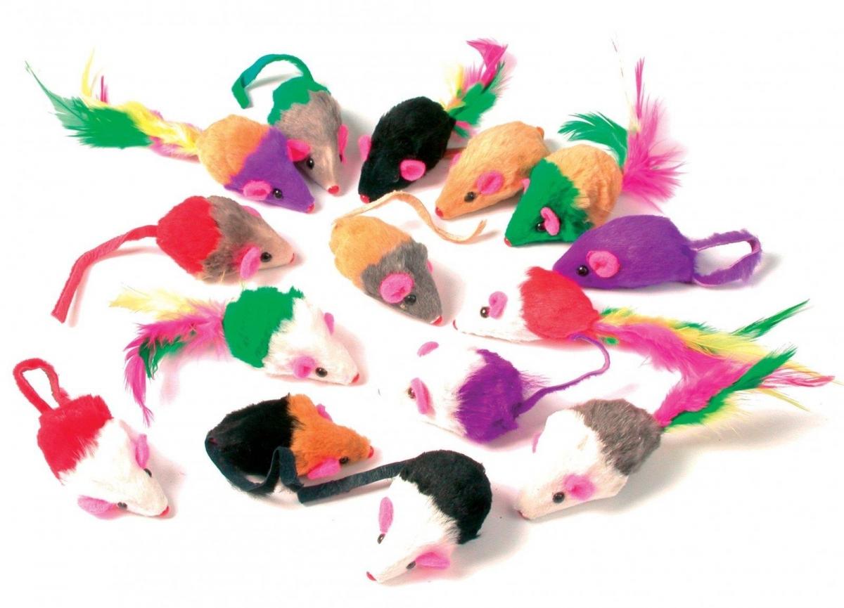 Zolux Zestaw 24 myszek futerkowych dla kota  24 szt.
