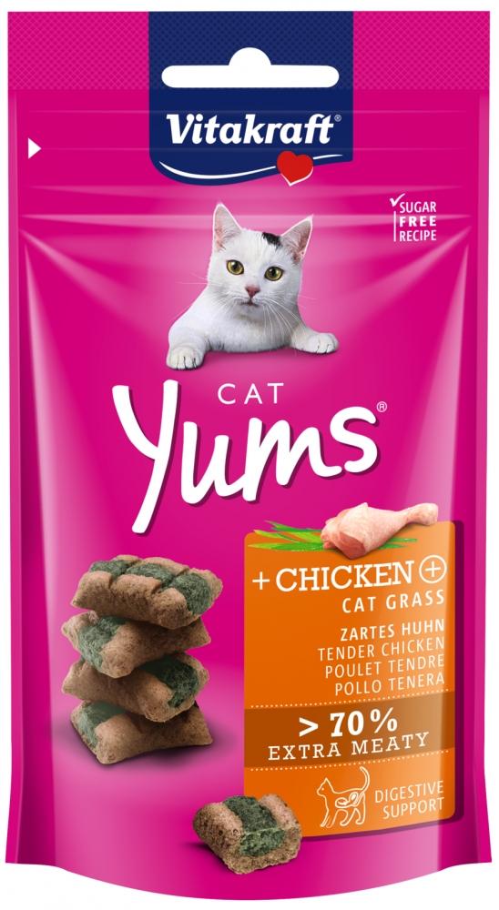 Vitakraft Yums miękie przysmaczki dla kota kurczak i kocia trawka 40g