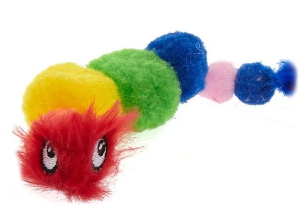Petstages Play: Rainbow Caterpillar zabawka gąsienica dla kota 20 x 12 cm