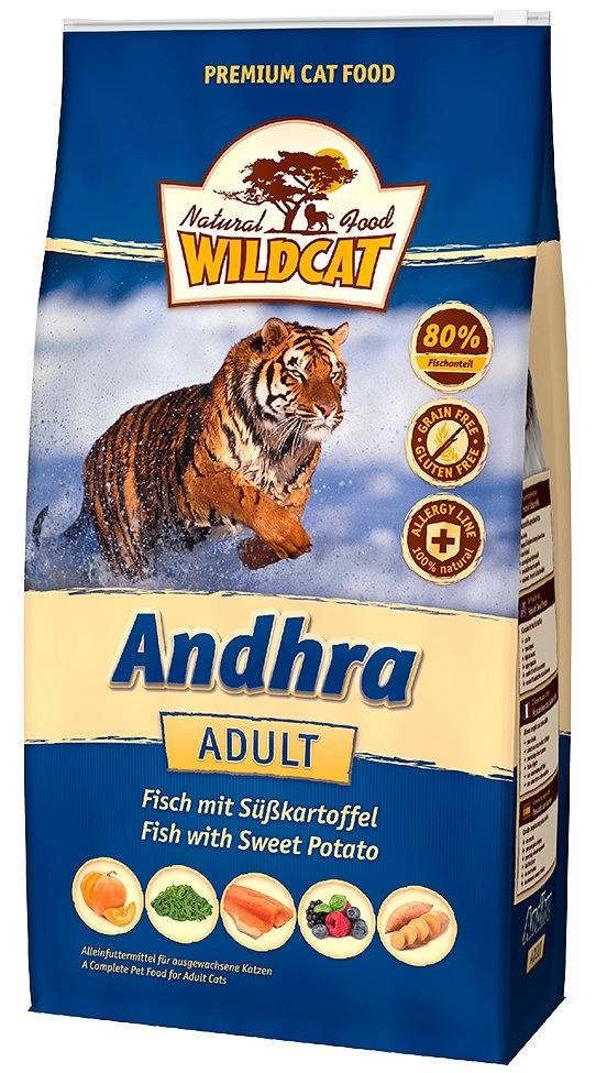 Wildcat Andhra karma dla kota z rybami, słodkimi ziemniakami i dynią 500g