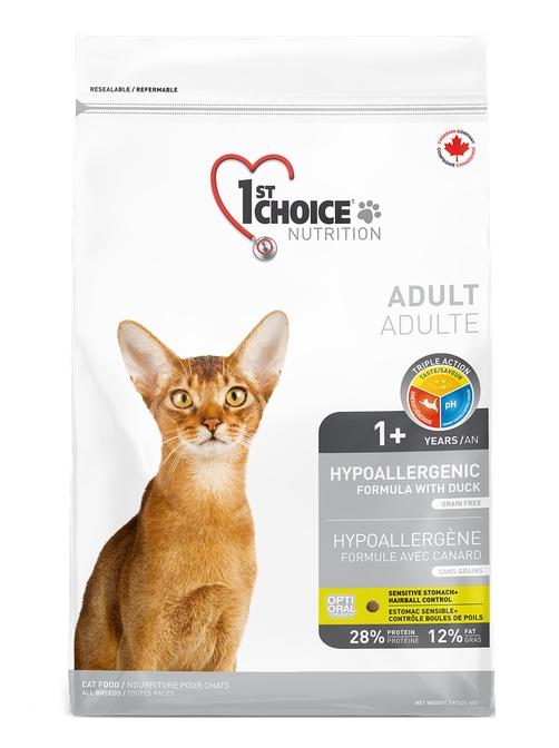 1st Choice Cat Hypoallergenic Grain Free świeża kaczka i ziemniaki 5.44kg