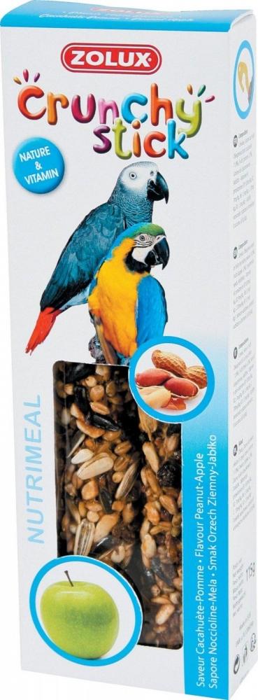 Zdjęcie Zolux Crunchy Stick kolby dla papug  orzech ziemny/jabłko 2 szt.