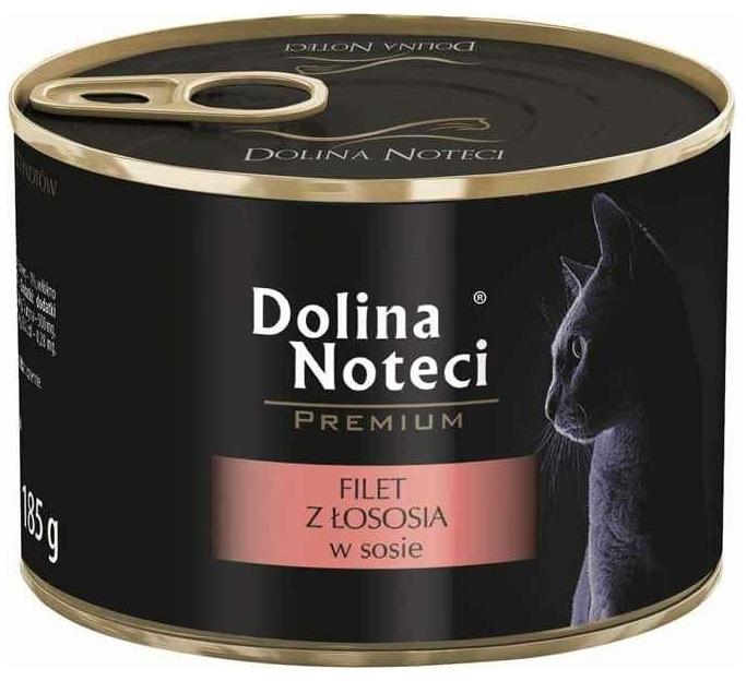 Zdjęcie Dolina Noteci Premium puszka dla kota  filet z łososia w sosie 185g