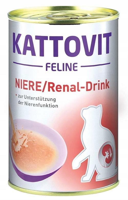 Kattovit Renal Drink napój dla kota wspomagający funkcje nerek 135ml