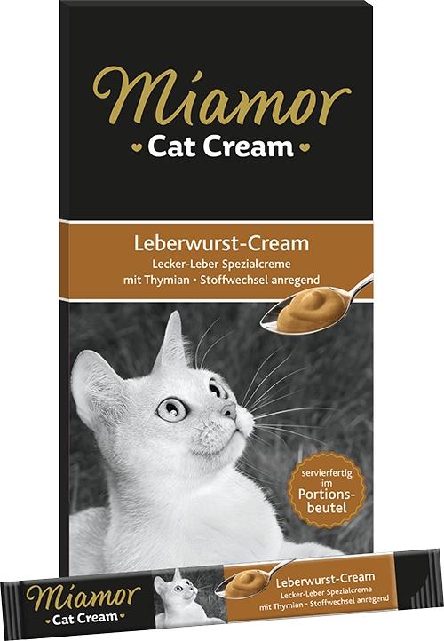 Miamor Leberwurst cream sos z pasztetu z wątróbki dla kota 6 szt.