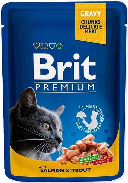 Brit Premium Cat Adult saszetka w sosie z łososiem i pstrągiem 100g