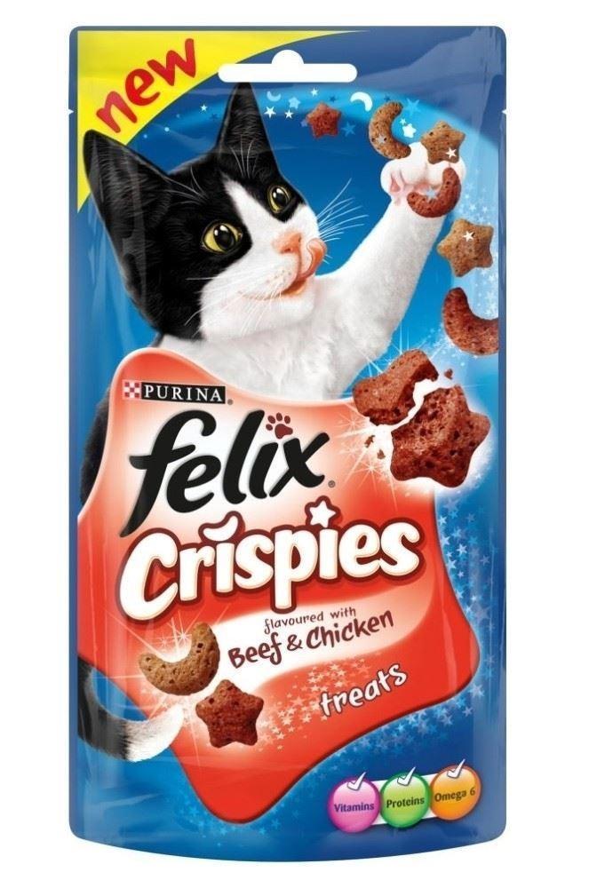 Felix Crispies przysmaki dla kota Wołowina i Kurczak 45g