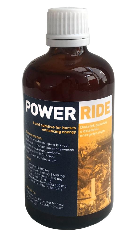 Zdjęcie Power Ride Dodatek paszowy o działaniu energetycznym  dla koni  100ml