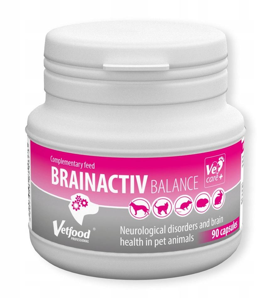 Vetfood Brainactiv Balance preparat dla starszych psów i kotów 90 kaps.