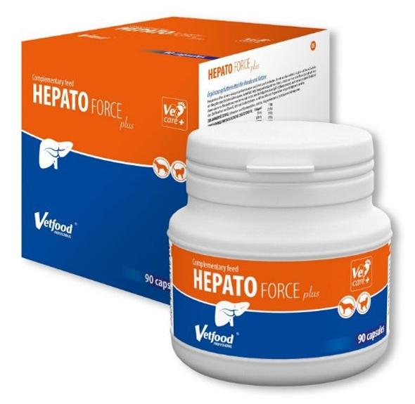Vetfood Hepatoforce Plus dodatek uzupełniający do karm dla psów i kotów 90 kps