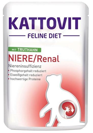 Kattovit Feline Diet Niere / Renal saszetka z indykiem 85g