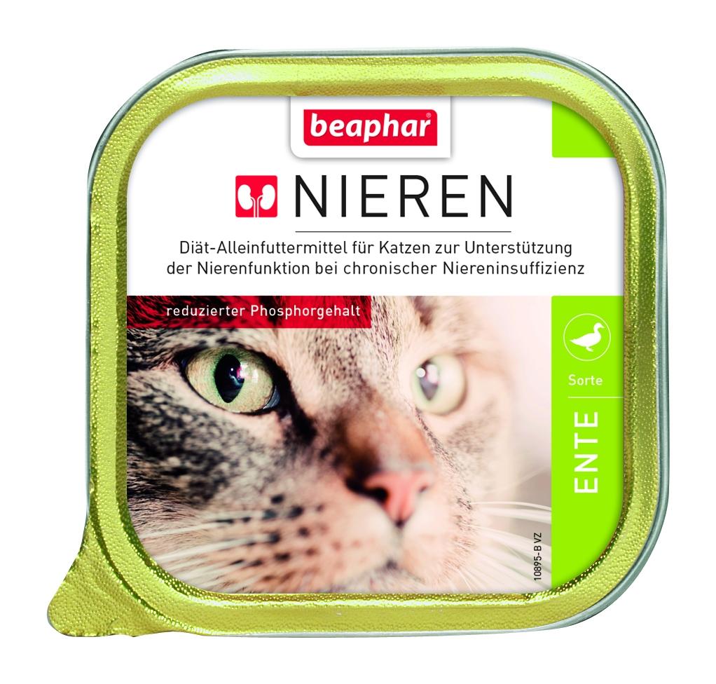 Beaphar Nieren + niewydolność nerek tacka dla kota z kaczką 100g