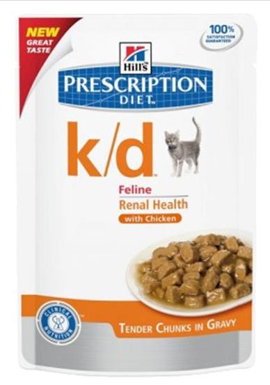 Hill's Vet Feline k/d Kidney Care saszetka  w sosie z wołowiną 85g