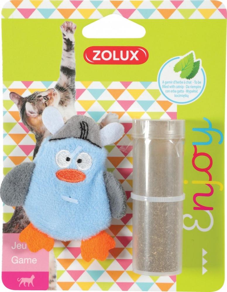 Zolux Zabawka dla kota Pirat Pingwin z kocimiętką niebieski 7 cm