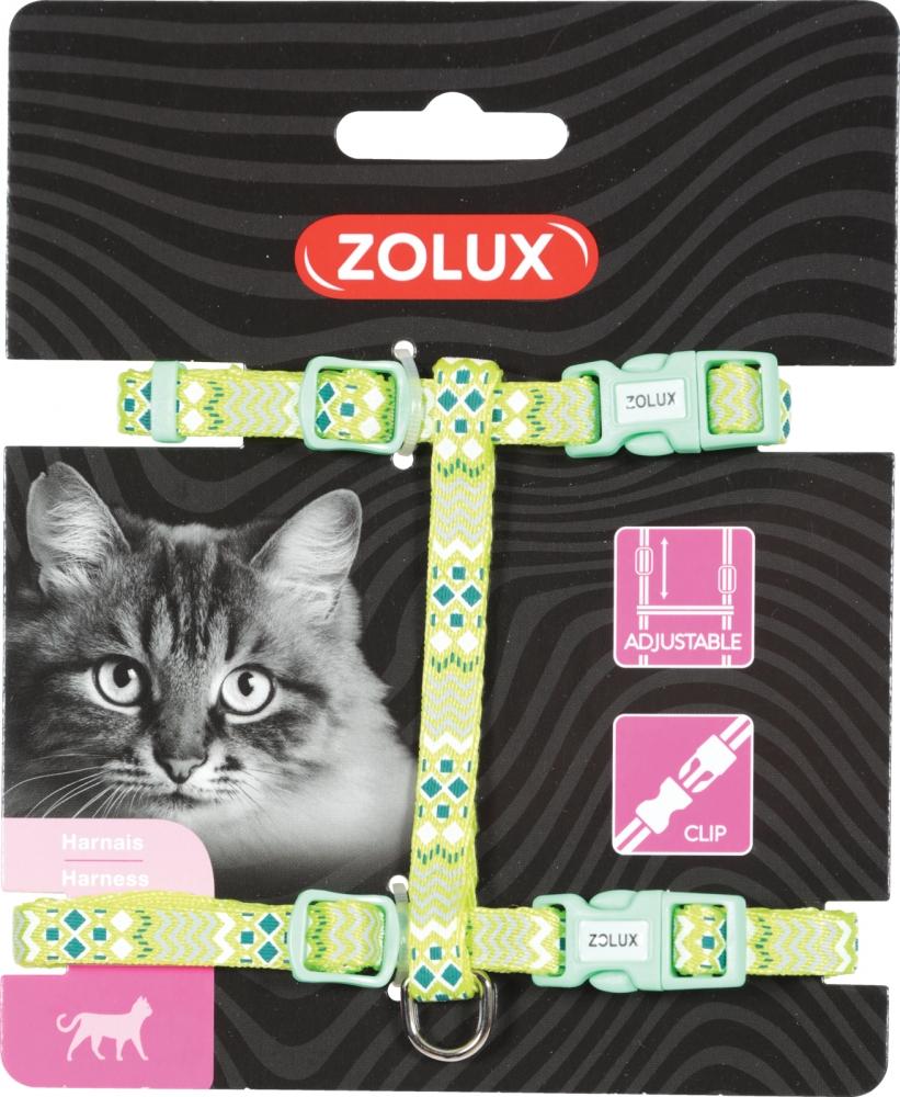Zdjęcie Zolux Szelki dla kota Ethnic  zielone