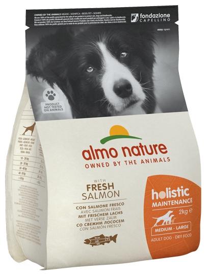 Zdjęcie Almo Nature Holistic Dog Adult Medium  z łososiem i  brązowym ryżem 2kg