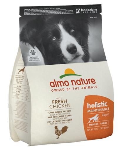 Zdjęcie Almo Nature Holistic Dog Adult Medium  z kurczakiem i  brązowym ryżem 12kg