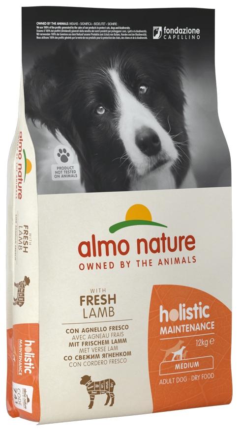 Zdjęcie Almo Nature Holistic Dog Adult Medium  z jagnięciną i brązowym ryżem 12kg