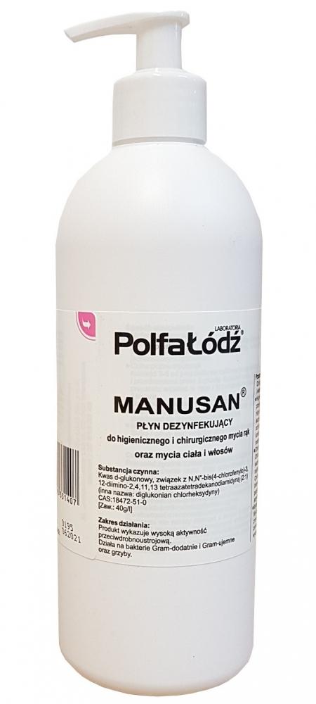 Zdjęcie Manusan Płyn dezynfekujący z pompką  500ml z pompką