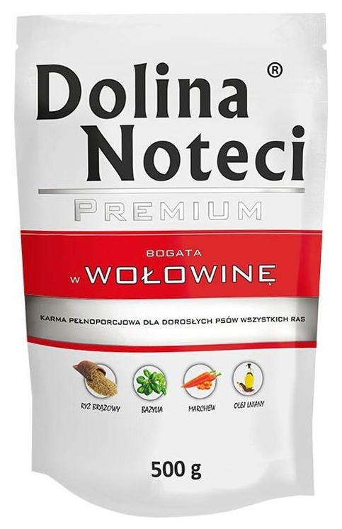 Zdjęcie Dolina Noteci Premium saszetka dla psa  wołowina 500g