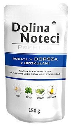 Zdjęcie Dolina Noteci Premium saszetka dla psa  dorsz z brokułami 150g