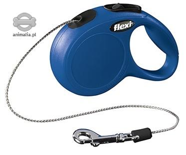 Zdjęcie Flexi New Classic XS smycz automatyczna niebieska linka 3m