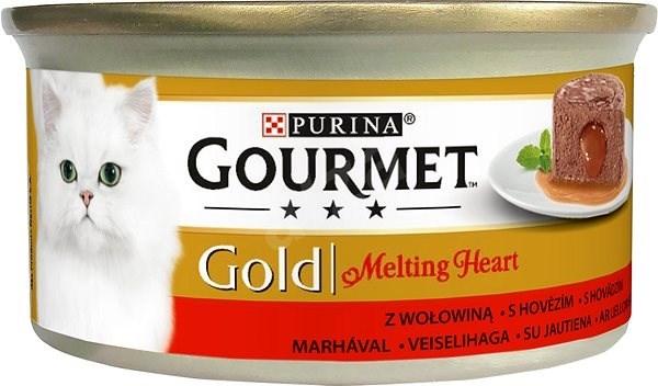 Gourmet Gold Melting Heart pasztet z nadzieniem z sosu z wołowiną 85g