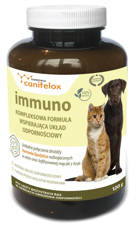 Zdjęcie Yarrowia Canifelox Immuno Dog & Cat  poprawa odporności u psów i kotów 120 g