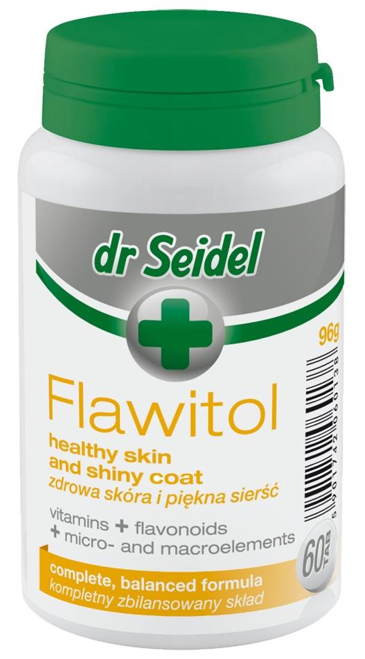 Zdjęcie dr Seidel Flawitol Omega 6 w tabletkach  zdrowa skóra i sierść 60 szt.