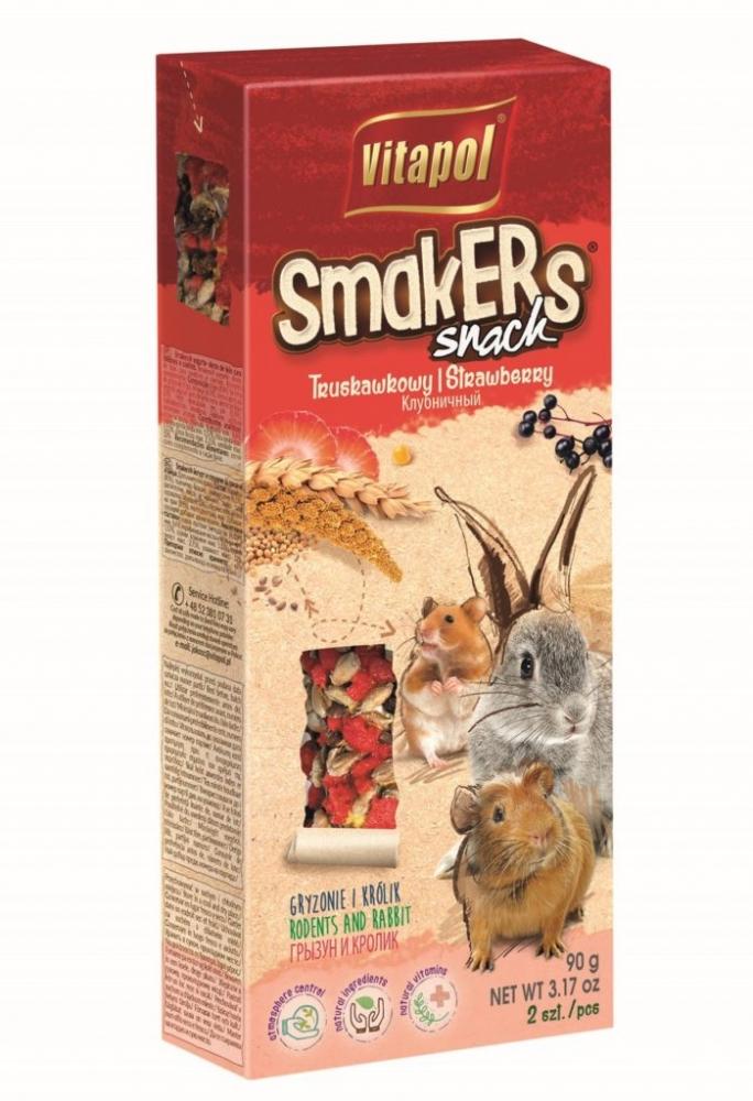 Zdjęcie Vitapol Kolby dla gryzoni Smakers  truskawkowe 2 szt.