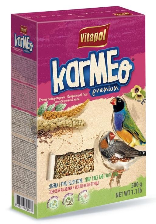 Zdjęcie Vitapol Karmeo Premium pokarm pełnoporcjowy  dla zeberek i ptaków egzotycznych 500g