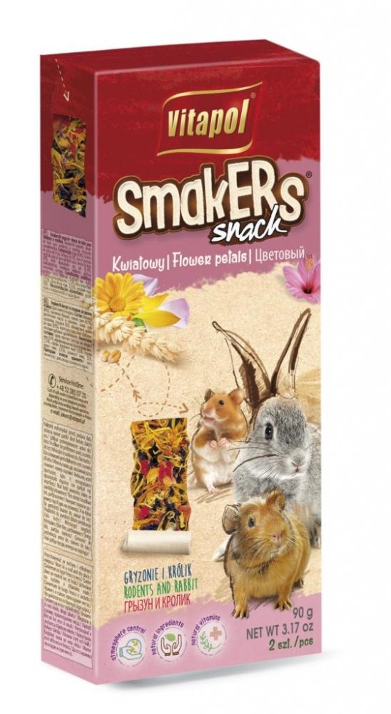 Zdjęcie Vitapol Kolby dla gryzoni Smakers  z płatkami kwiatów 2 szt.