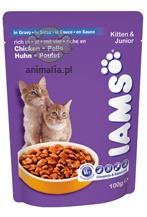 Zdjęcie Iams Kitten & Junior saszetka  dla kociąt 100g