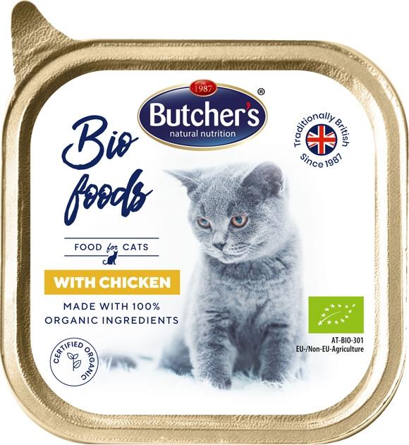 Zdjęcie Butcher's Bio Food tacka dla kota   z kurczakiem 85g