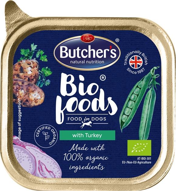 Zdjęcie Butcher's Bio Foods tacka dla psa  z indykiem 150g
