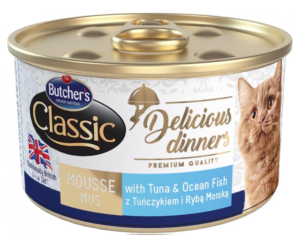 Zdjęcie Butcher's Delicious Dinner puszka dla kota   z tuńczykiem i rybą morską 85g