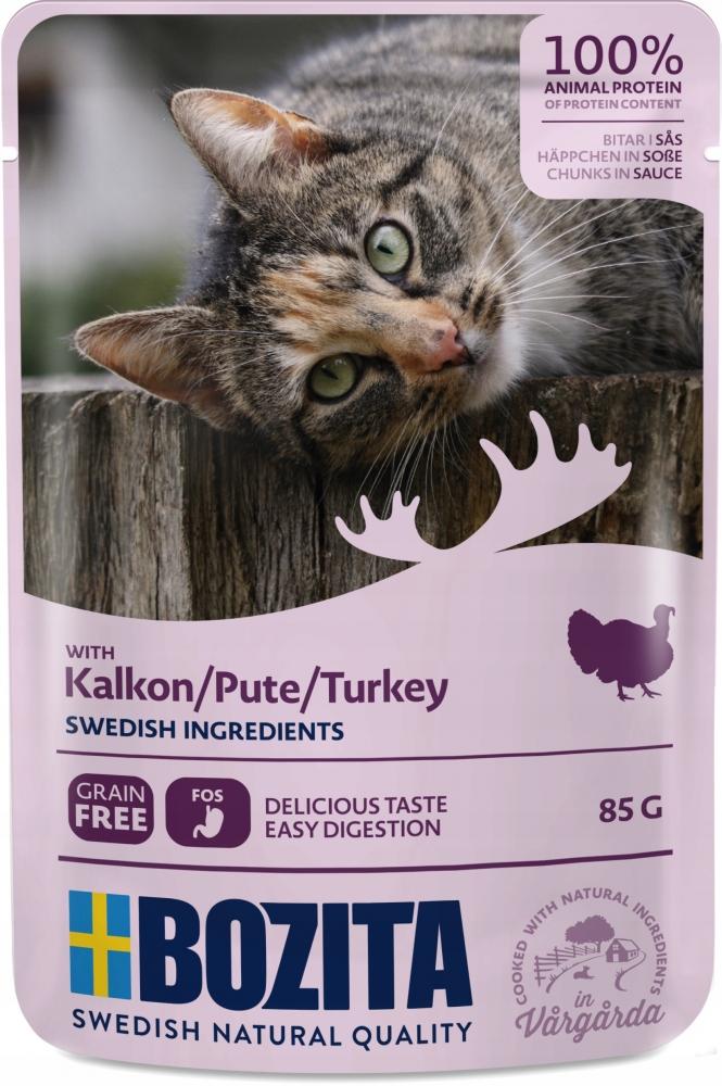 Zdjęcie Bozita Saszetka dla kota  indyk w sosie 85g